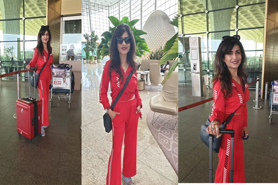 Singer and artist Shivani Kashyap spotted in a stylish look at the airport,
