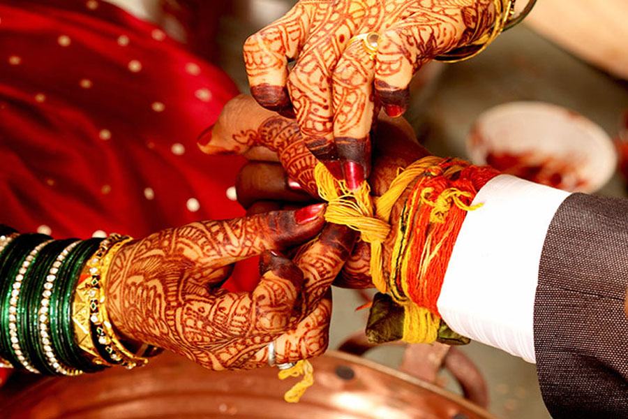 A superstition is like this: everyone got married in such a