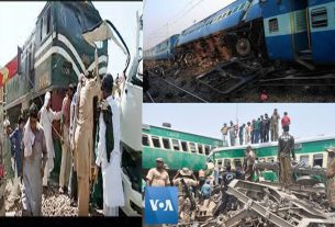 Trains collided in Pakistan: